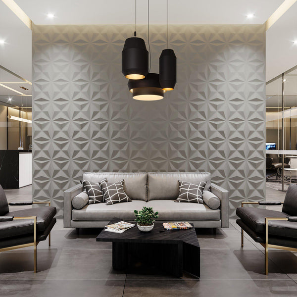 Luxe Supermatte Wall Flats - 3D Wall Panels - Facet 3D Supermatte Wall Flats - 2 - Inhabit