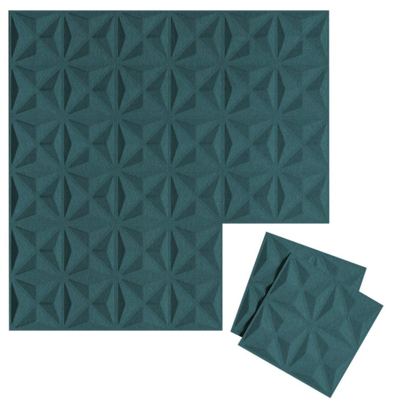 Felt 3D Wall Flats - Acoustic Panels - Facet 3D Wool Felt Wall Flats - 14 - Inhabit
