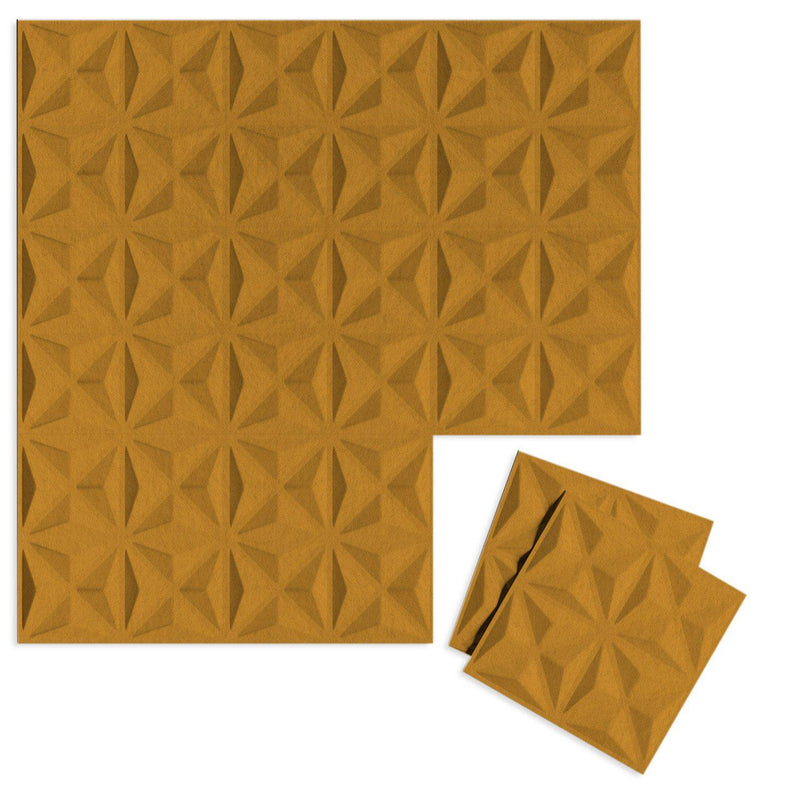 Felt 3D Wall Flats - Acoustic Panels - Facet 3D Wool Felt Wall Flats - 8 - Inhabit