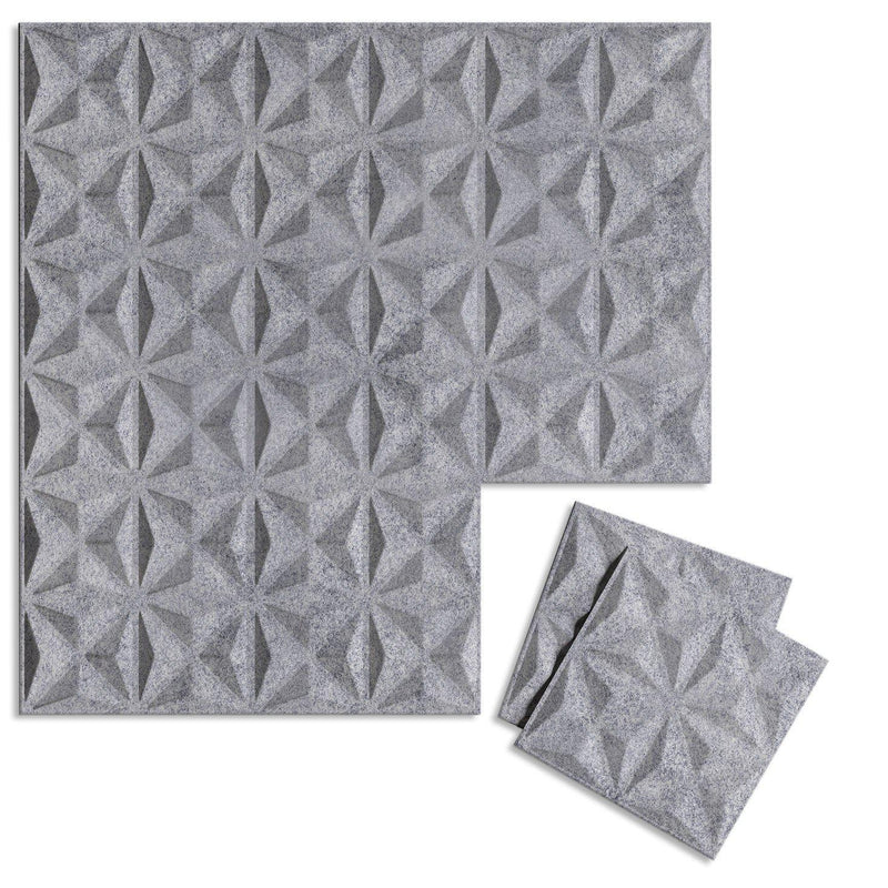 Felt 3D Wall Flats - Acoustic Panels - Facet 3D Wool Felt Wall Flats - 3 - Inhabit