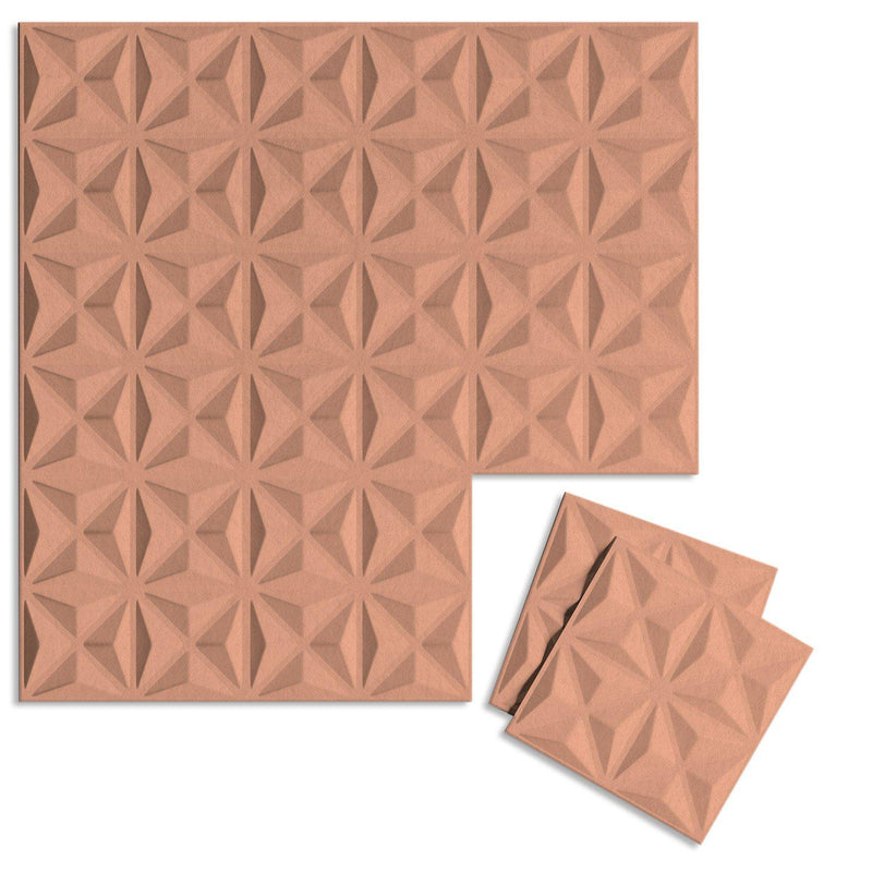 Felt 3D Wall Flats - Acoustic Panels - Facet 3D Wool Felt Wall Flats - 11 - Inhabit