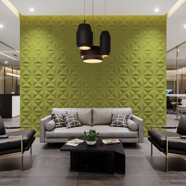 Felt 3D Wall Flats - Acoustic Panels - Facet 3D Wool Felt Wall Flats - 2 - Inhabit