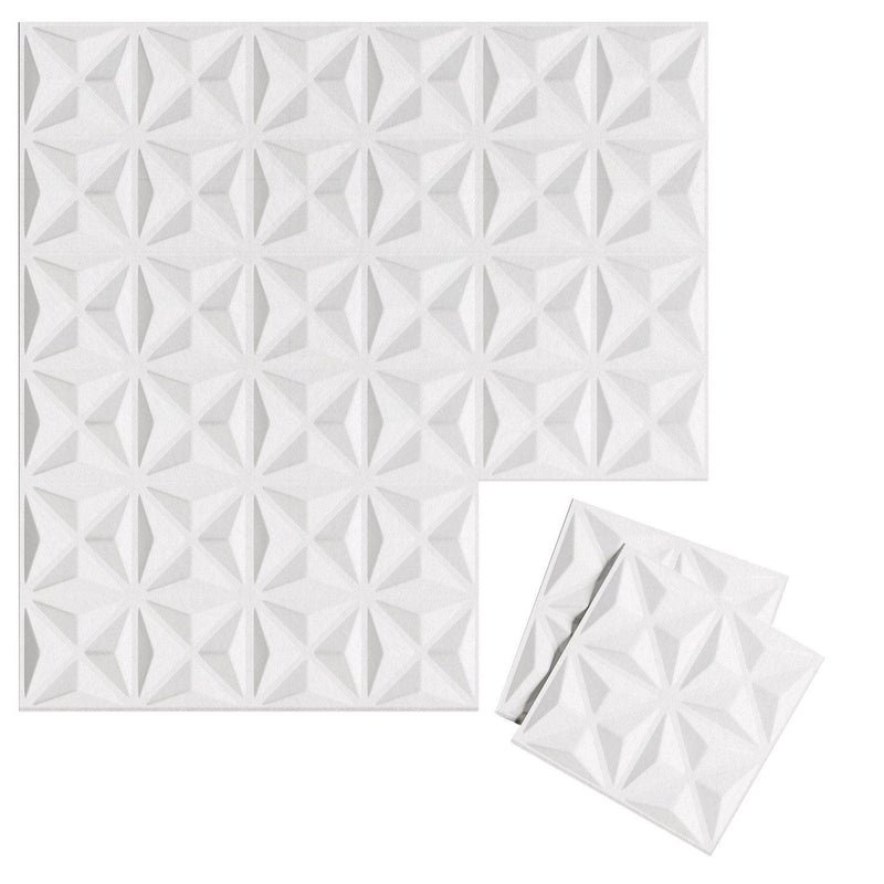 Felt 3D Wall Flats - Acoustic Panels - Facet 3D Wool Felt Wall Flats - 9 - Inhabit