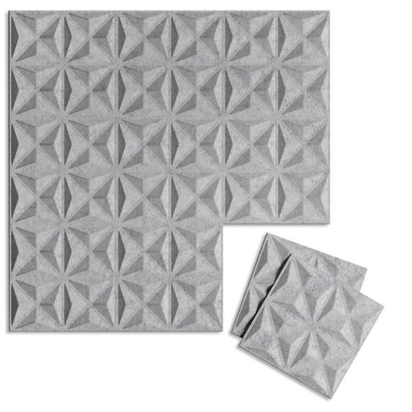 Felt 3D Wall Flats - Acoustic Panels - Facet 3D Wool Felt Wall Flats - 1 - Inhabit