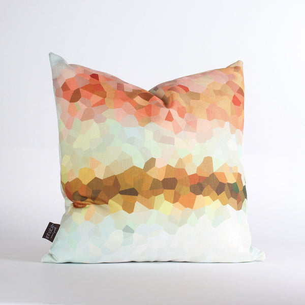 Handmade Pillows - Facet Fade in Sherbet Throw Pillow - 1 - Inhabit