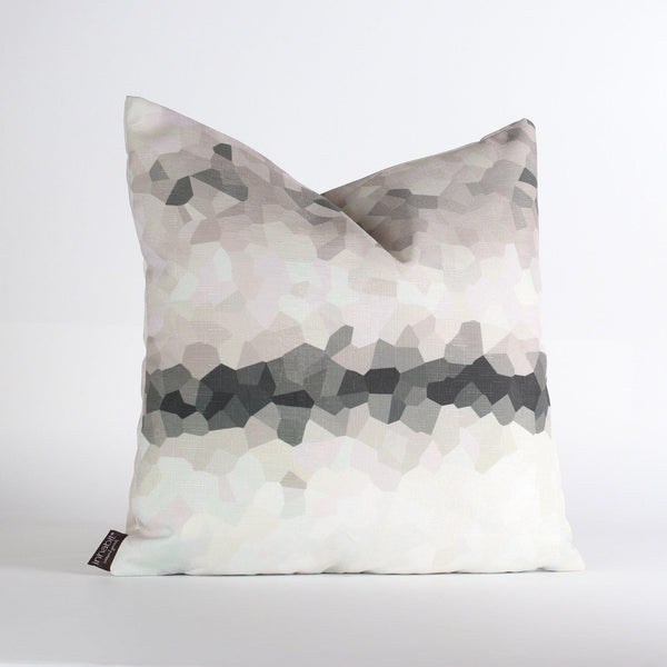 Handmade Pillows - Facet Fade in Slate Throw Pillow - 1 - Inhabit