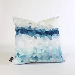 Handmade Pillows - Facet High in Aqua Throw Pillow - 1 - Inhabit