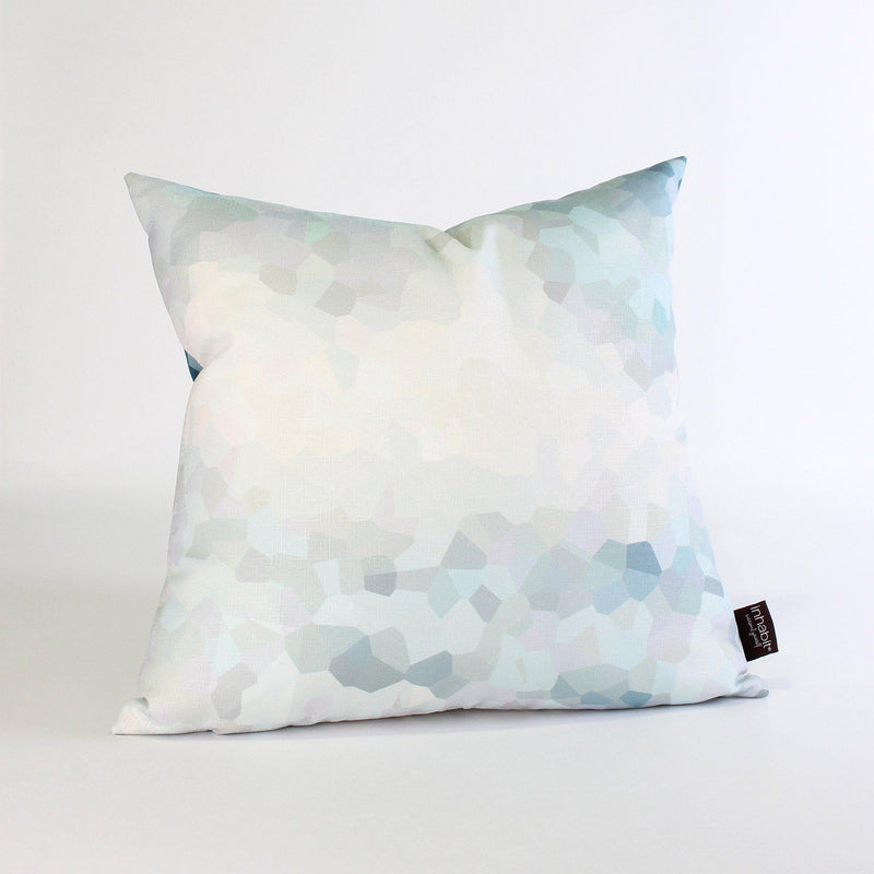 Handmade Pillows - Facet High in Aqua Throw Pillow - 3 - Inhabit