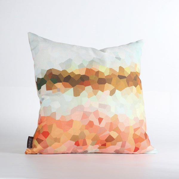 Handmade Pillows - Facet High in Sherbet Throw Pillow - 1 - Inhabit