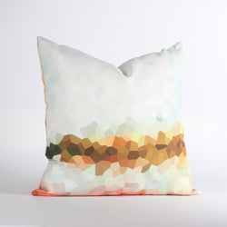 Handmade Pillows - Facet Low in Sherbet Throw Pillow - 1 - Inhabit