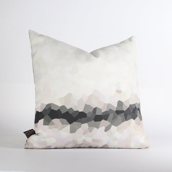 Handmade Pillows - Facet Low in Slate Throw Pillow - 1 - Inhabit