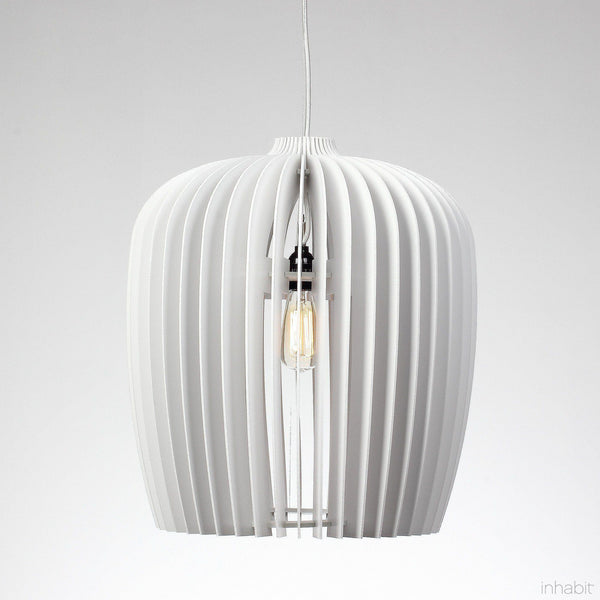 Corrulight Ceiling Lighting - Finley White Sculptural Pendant Light - 1 - Inhabit