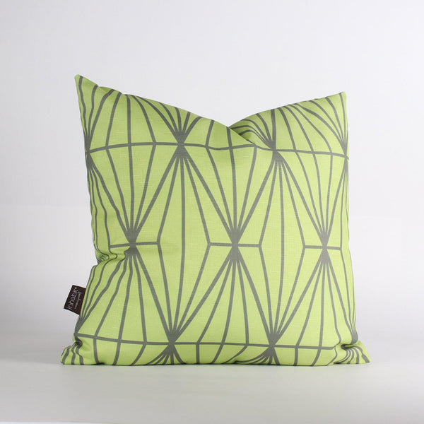 Handmade Pillows - Fragment in Lime Throw Pillow - 1 - Inhabit