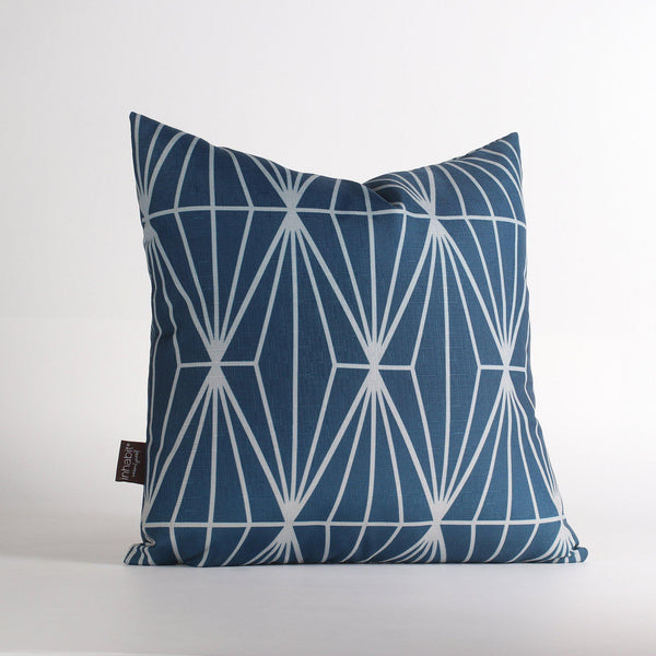 Handmade Pillows - Fragment in Navy Throw Pillow - 1 - Inhabit
