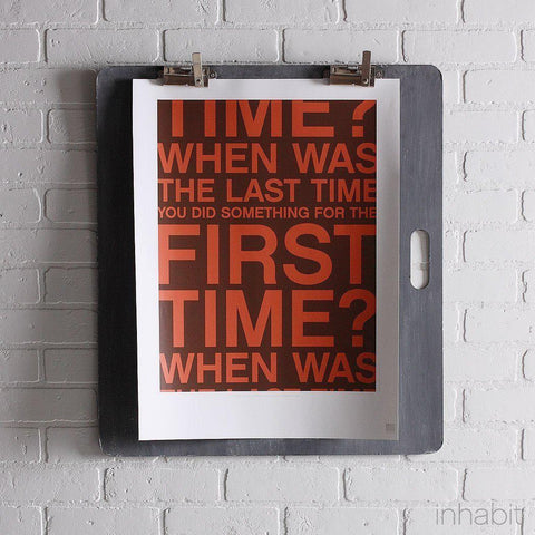"First Time in Chocolate & Rust Print - 18"" x24""- Art Prints - Inhabitliving.com - Inhabit - 1"