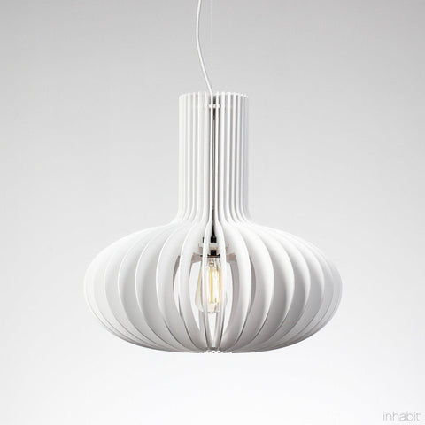 Amien White Sculptural Pendant Light