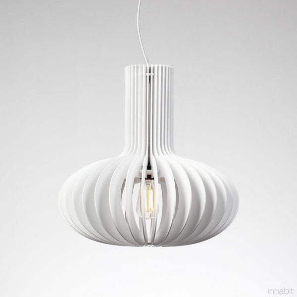 Gibson White Sculptural Pendant Light - Corrulight Ceiling Lighting - 1 - Inhabit