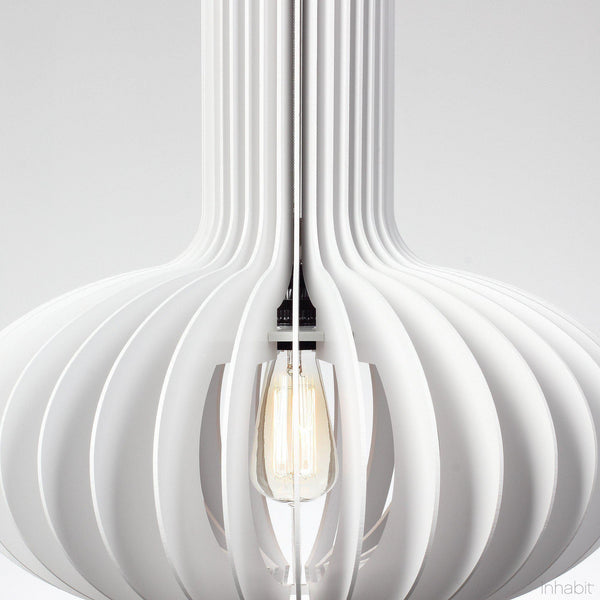 Gibson White Sculptural Pendant Light - Corrulight Ceiling Lighting - 2 - Inhabit