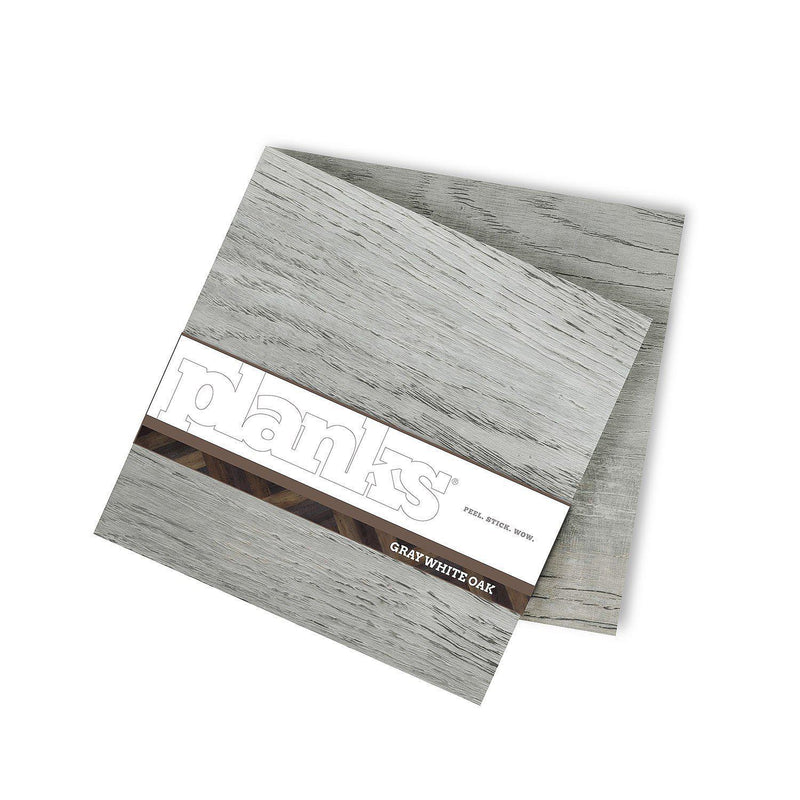 Planks - Gray White Oak Look Peel and Stick Wall Planks - 8 - Inhabit