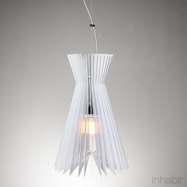 Griffin White Sculptural Pendant Light - Corrulight Ceiling Lighting - 1 - Inhabit