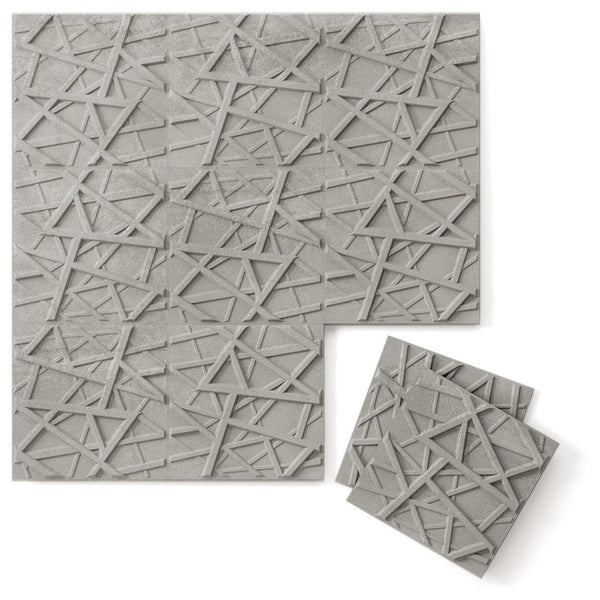 Luxe Supermatte Wall Flats - 3D Wall Panels - Hatch 3D Luxe Wall Flats - 1 - Inhabit