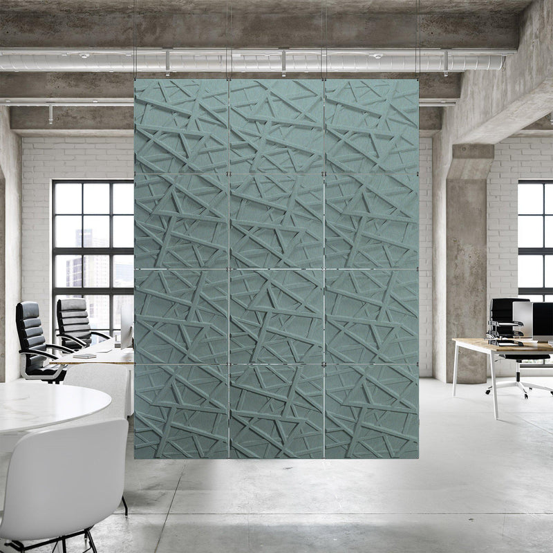 Acoustic Hanging Wall Panel | Room Divider - Hatch 3D PET Felt Hanging Wall Flat System - 7 - Inhabit