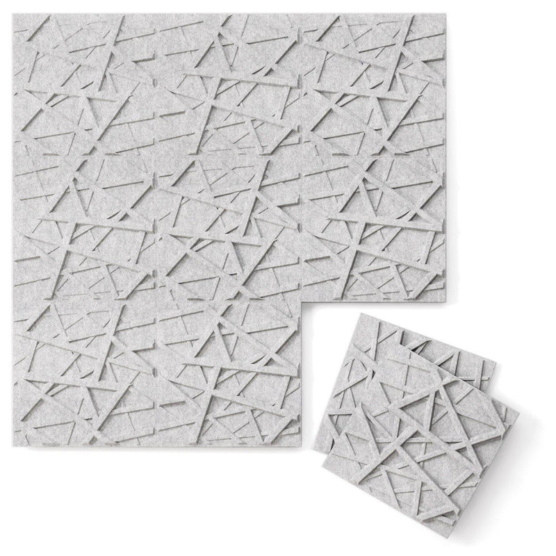 Felt 3D Wall Flats - Acoustic Panels - Hatch 3D PET Felt Wall Flats - 3 - Inhabit