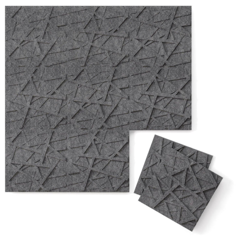 Felt 3D Wall Flats - Acoustic Panels - Hatch 3D PET Felt Wall Flats - 6 - Inhabit