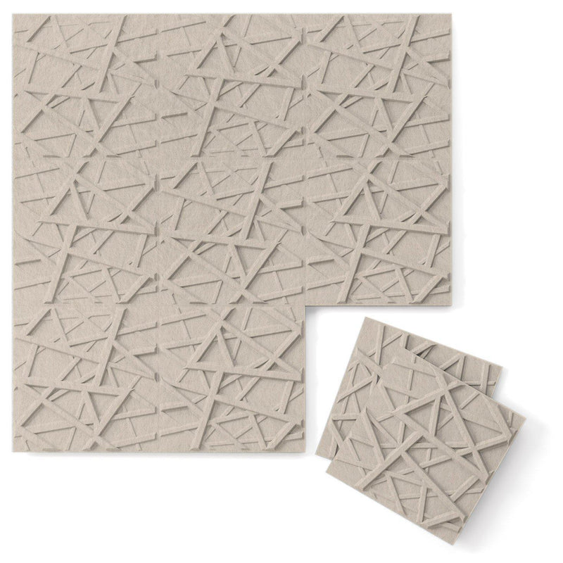 Felt 3D Wall Flats - Acoustic Panels - Hatch 3D PET Felt Wall Flats - 1 - Inhabit
