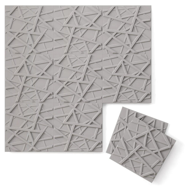 Luxe Supermatte Wall Flats - 3D Wall Panels - Hatch 3D Supermatte Wall Flats - 1 - Inhabit