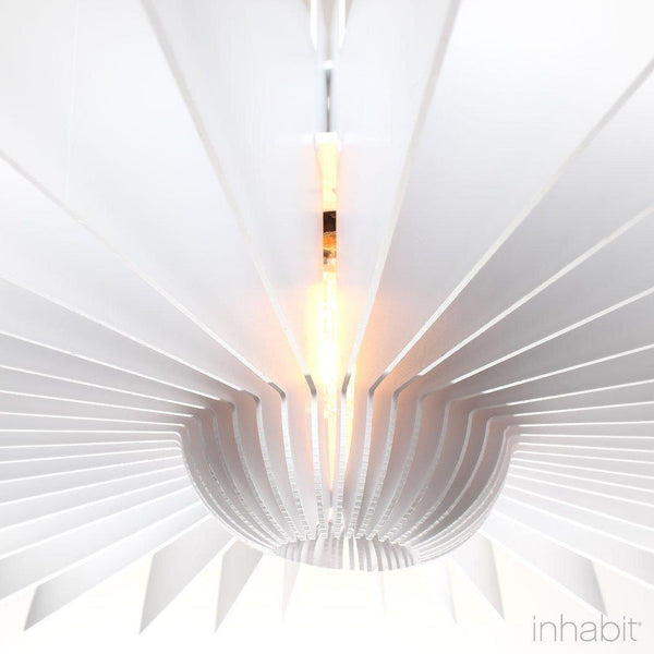 Juhl White Sculptural Pendant Light - Corrulight Ceiling Lighting - 2 - Inhabit