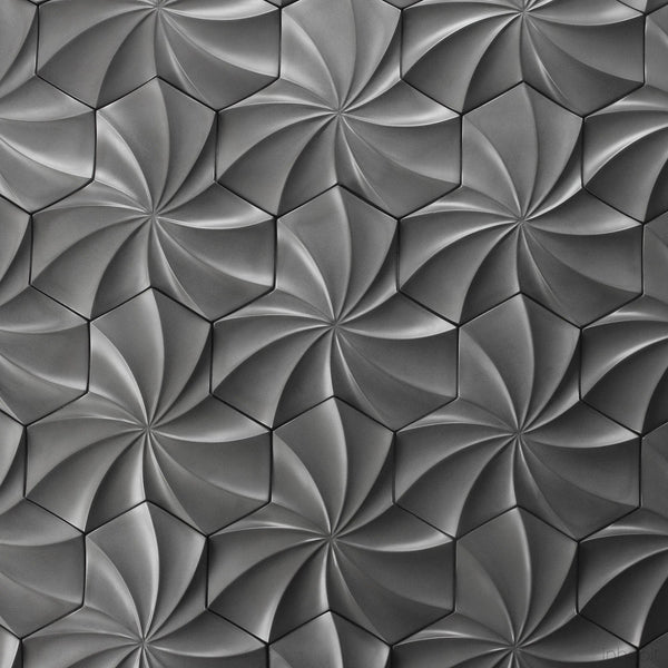 Kaleidoscope Cast Architectural Concrete Tile - Natural-Cast Concrete Tiles-Inhabit