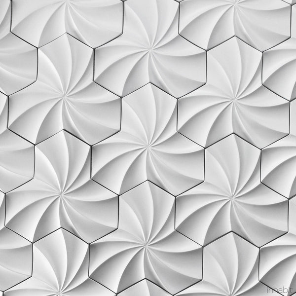 Kaleidoscope Cast Architectural Concrete Tile - Primer White - - Outlet Cast Tiles - Inhabitliving.com - Inhabit - 4
