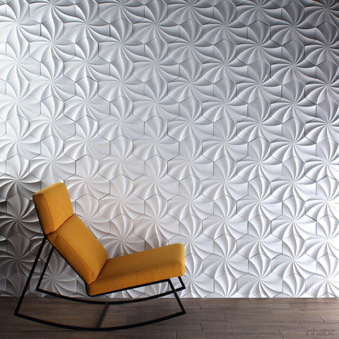 Kaleidoscope Cast Architectural Concrete Tile - Primer White - - Outlet Cast Tiles - Inhabitliving.com - Inhabit - 2