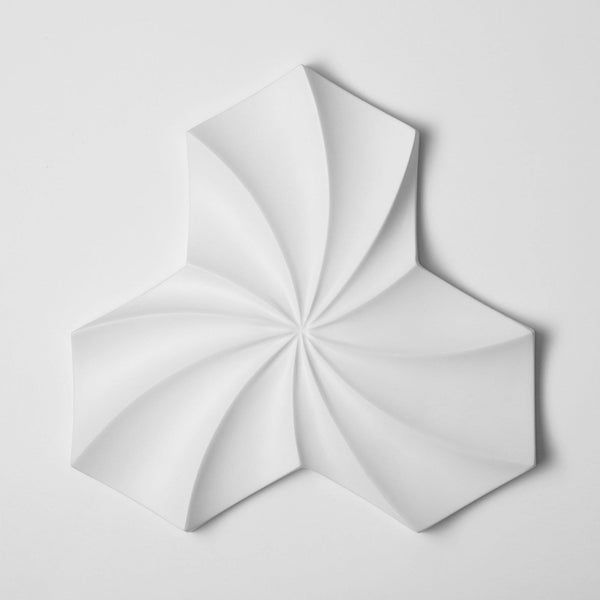 Cast Concrete Tiles - Kaleidoscope Cast Architectural Concrete Tile - White - 1 - Inhabit
