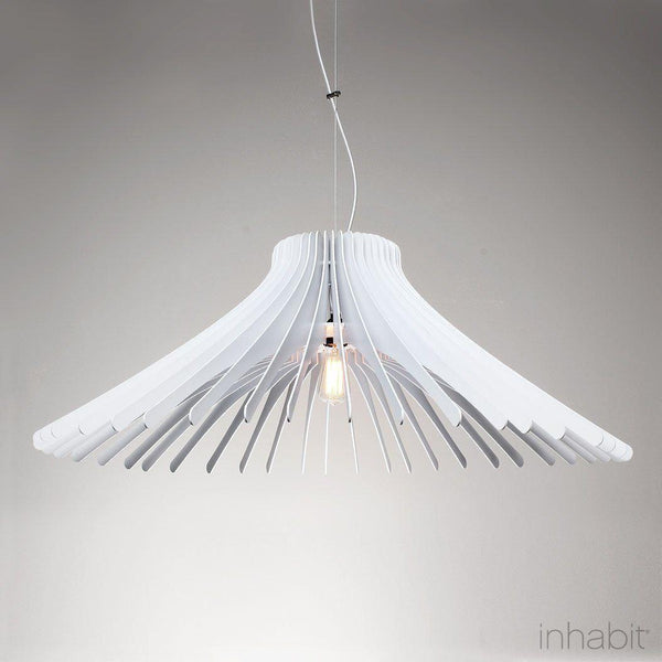 Keck White Sculptural Pendant Light - Corrulight Ceiling Lighting - 1 - Inhabit