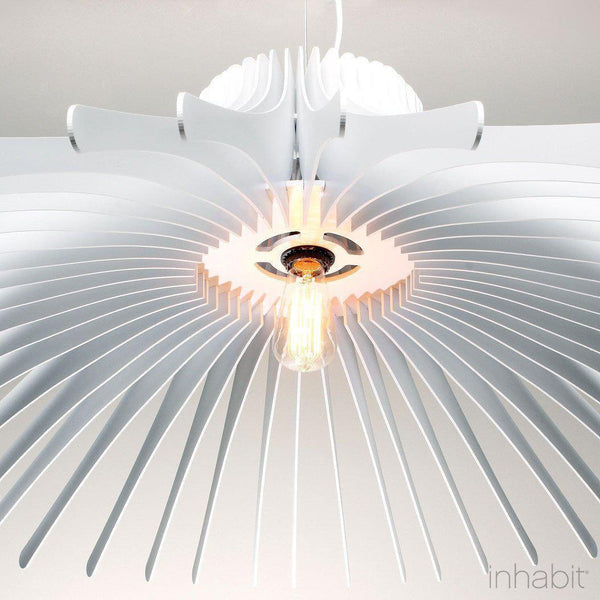 Keck White Sculptural Pendant Light - Corrulight Ceiling Lighting - 2 - Inhabit