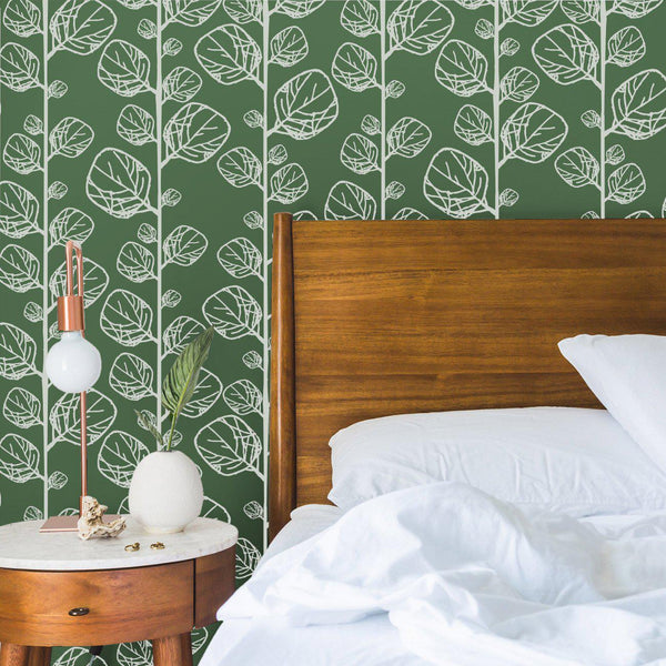 Wallpaper - Peel and Stick Wallpaper - Commercial Wallpaper - Leaf Bespoke Wallpaper - 1 - Inhabit