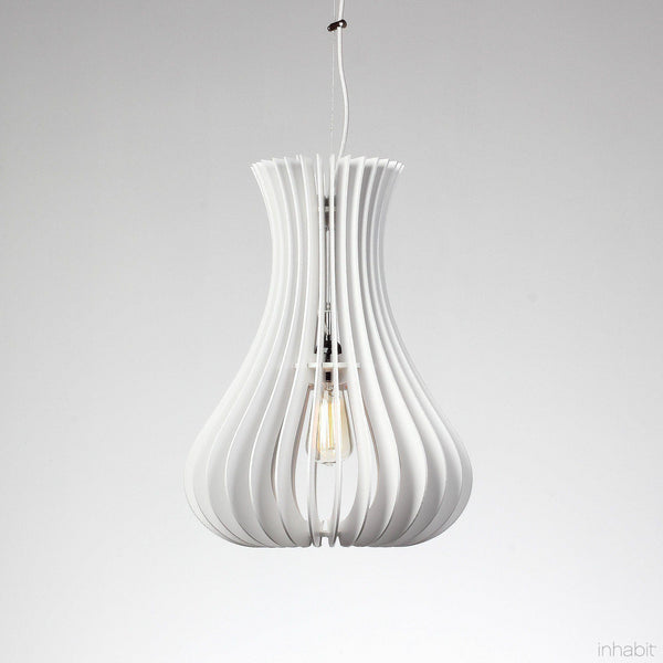 Lilou White Sculptural Pendant Light - Corrulight Ceiling Lighting - 1 - Inhabit