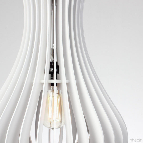 Lilou White Sculptural Pendant Light - Corrulight Ceiling Lighting - 2 - Inhabit