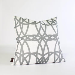 Handmade Pillows - Loom in Mineral Gray Throw Pillow - 1 - Inhabit