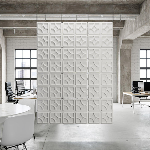 Hanging Wall Flat Systems - Luna Hanging Paintable Wall Flat System - 3D Wall Panels - 1 - Inhabit