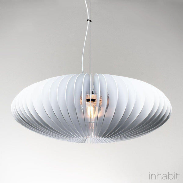 Nelson White Sculptural Pendant Light - Corrulight Ceiling Lighting - 1 - Inhabit