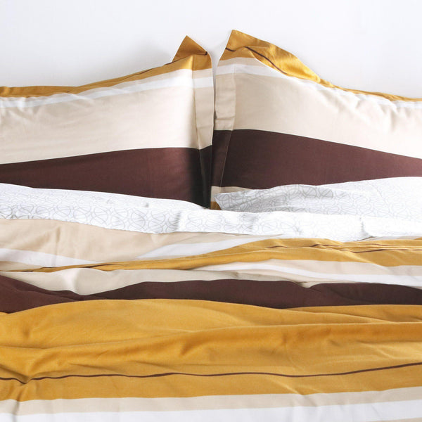 Bedding - Nourish in Amber Duvet Cover + Sham Set - 1 - Inhabit