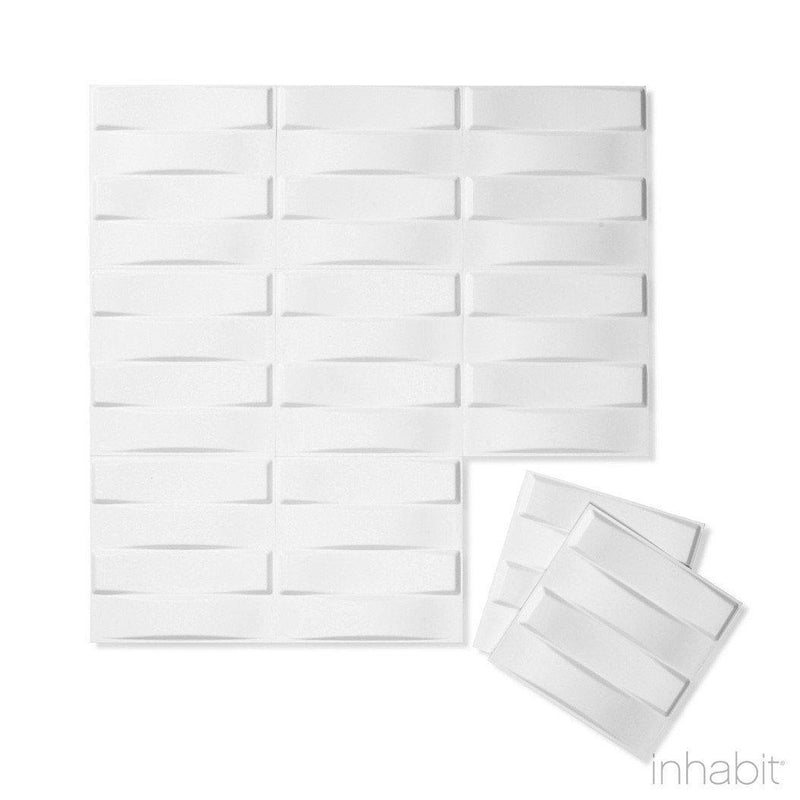 Wall Flats - 3D Wall Panels - Wall Flat Samples - Paint Ready 3D Wall Panels - 9 - Inhabit