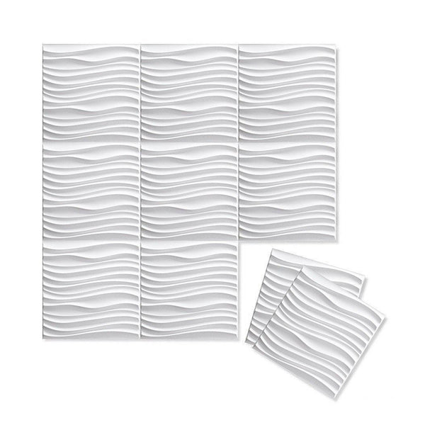 Wall Flats - 3D Wall Panels - Wall Flat Samples - Paint Ready 3D Wall Panels - 2 - Inhabit