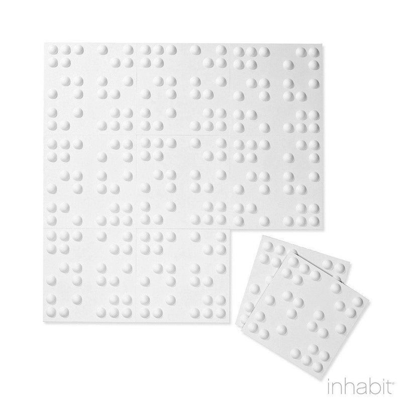 Wall Flats - 3D Wall Panels - Wall Flat Samples - Paint Ready 3D Wall Panels - 7 - Inhabit