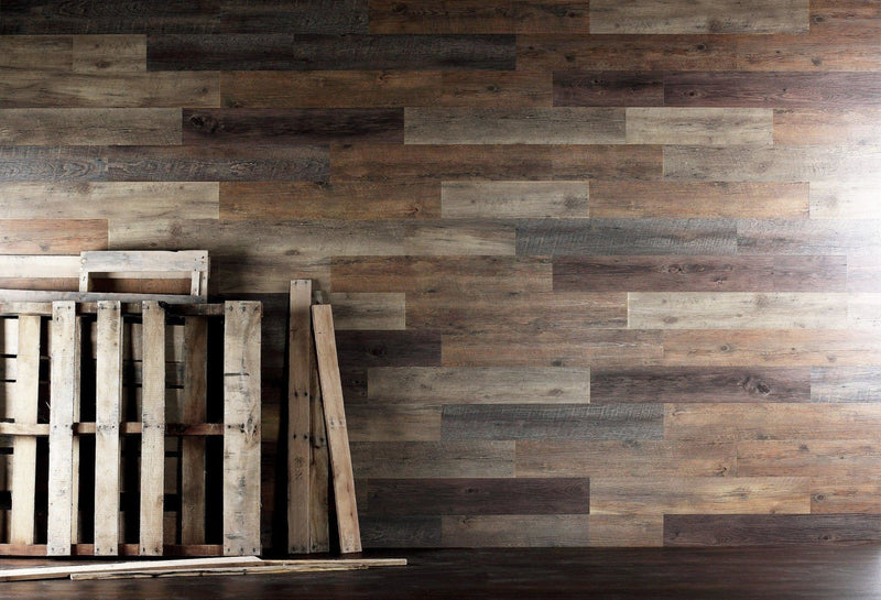 Planks - Pallet Wood Look Peel and Stick Wall Planks - 4 - Inhabit
