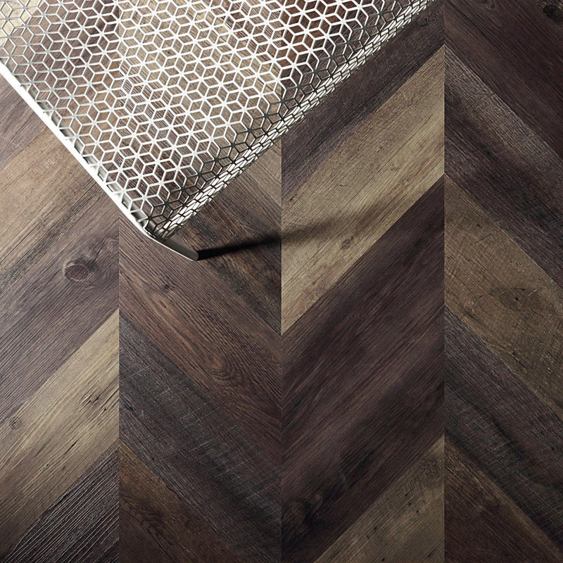 Variplank - Pallet Wood Peel + Stick Wood Look Herringbone Variplanks - 3 - Inhabit