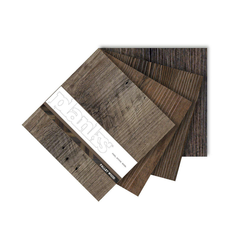 Variplank - Pallet Wood Peel + Stick Wood Look Herringbone Variplanks - 4 - Inhabit
